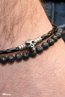 Picture of Pulseira Leather Skull 10